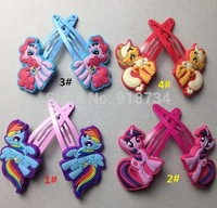 Wholesale 1lot=4pcs My Little Pony kids' Hairpins Ornaments Hair Clips children girls gift