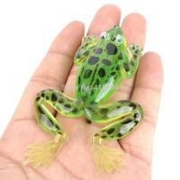 For Free Shipping Soft Lifelike PVC Rubber Sara Style Fishing Bait - Green (11g / 8.5cm) 150267