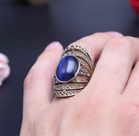 Women opal ring.18 k gold plating.Blue opal.White opal.Retro fashion rings.Free shipping + gifts.Buy 3, 15% discount.You can mix