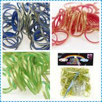 Hot Sale 10packs/lot Fashion Golden Point Double Color Loom Bands Refill For DIY Rubber Loom Bracelets Making Kit (300pcs Bands)
