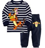 Hot Sale Classic Winnie Bear & Tigger Girls Cartoon Character Comic Print Pyjama Nightwear Loungewear Homedress