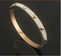 Gurantee 100% 316L Titanium Steel Brand wedding pattern gold 2014 women cuff bangle bracelets for women BR372