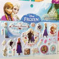 20Sheets/lot Sponge puffy FROZEN sticker(15x17cm) Sticker /Children Fashion Decoration Stickers