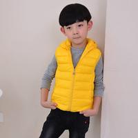 5 pcs/lot Winter Children's Outerwear Coats Hooded Vest Kids Eiderdown Ctton Cats Vest Baby Warm Vest YYJ527