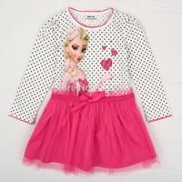 Baby girl frozen dresses New brand cartoon summer dress 2014 girl's frozen tutu dress frozen elsa costume kids frozen princess02