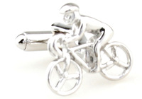 Promotion!!  Sport Cufflinks 2 pairs/lot silver color fashion cycle track design copper material free shipping