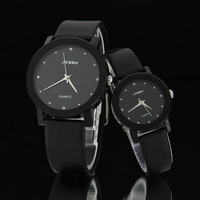 Brand Sinobi Trendy Classic Analog dress women watches Quartz Watch with Faux Leather Strap Black white for unisex