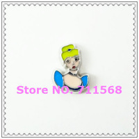 Cinderella Princess Floating Charm The Princess Living Locket Charms Perfect For DIY Floating Locket Accessories
