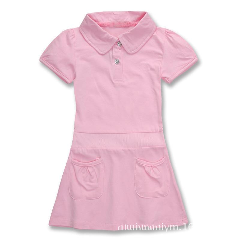 2014 summer girls polo dresses girls tennis dress,children brand dresses 100% cotton wholesale,5pcs/lot free shipping(China (Mainland))
