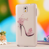 High Quality Diamond Shining Case Carton Bling Relievo Case Phone Cover For Samsung Galaxy Note3 N9000,Free Shipping