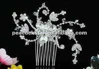Wholesale Bridal Wedding Party Flower Sparkling Crystal Hair Comb CT1455
