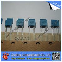 100pcs/lot bule color Capacitor 104J 100nF 0.1UF 100V  104J/100V P=5mm Correction Capacitor