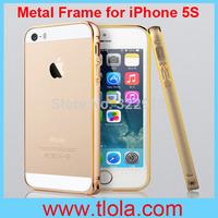 100pcs/Lot Free Shipping Swiss Post: Phnom Penh Aluminium Metal Bumper for iPhone 5/5S with Anti Knock Ultra Thin Sli
