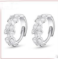 new 2014  vintage elegant cute flower earrings ali express wholesale  925 sterling silver earring #sky-09