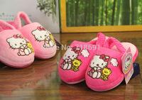 In Stock! Kid Winter Cartoon Indoor Slipper, Boys girls cute soft home slippers warm children's shoes RETAIL d199