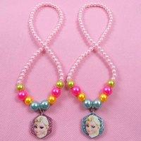 10pcs/lot !!!Christmas gift frozen anna&elsa necklaces pendants kids