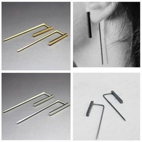 Wholesale Jewelry Stylish Chic Copper Hiphop Punk Geo Piercing Stud Earring Pendientes 6487