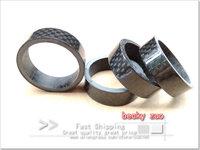 carbon bikar spacer ring  black glass 3K carbon washer 28.6*10mm 10pcs/lot bike parts