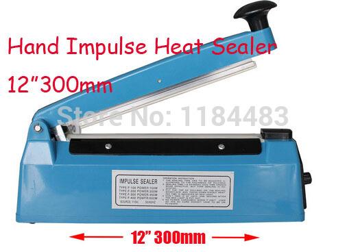 "12"" 300mm 400W Hand Manual Impulse Sealer Heat Seal Machine Poly PVC Plastic Shrink Vacuum Bag Film lips Sealing(China (Mainland))"