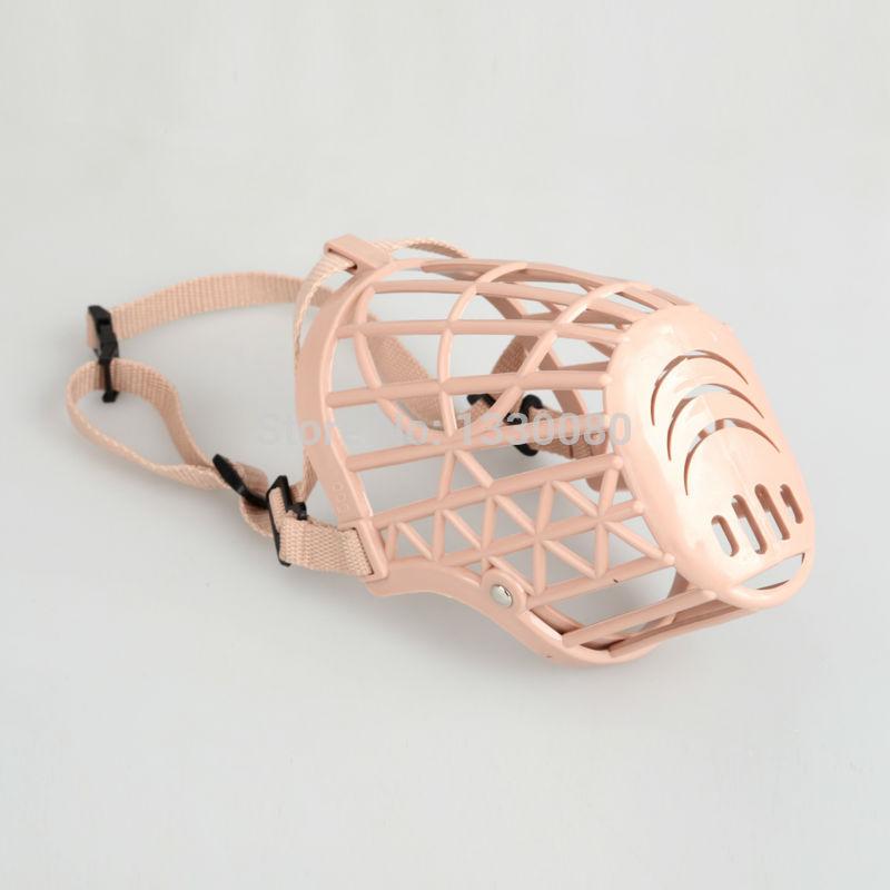 Plastic Basket Adjustable Dog Muzzle Mask Cage Mouth Mesh Size1 E5M1(China (Mainland))