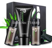 Baimiss Acne Treatment  3pcs Set Blackhead Removing black head Export liquid+Black mask+Compact toner Shrink Pore Skin Care