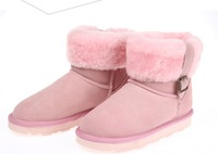 Free Shipping 2014 New Winter Flats Women Snow Boots Thicken Warm Suede Ankle Boots Mid-Calf Warm Boots for girls Eight Colors