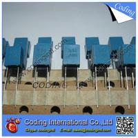 100pcs/lot bule color Capacitor 105J 1000nF 1UF 63V  105J/63V P=5mm Correction Capacitor