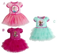 1PCS Frozen Dress Elsa & Anna Summer Dress For Girl 2014 New Hot Princess Dresses Brand Girls Dress Children Clothing