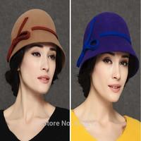 100% Imported Australian wool bowknot fashion felt fedoras hat for women fedora hat lady fedora hat for woman autumn