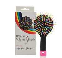 Fashion New 5Pcs/lot  Women Color Rainbow Volume Waved Comb Anti-tangle Hair Brushes Massage Combs Dropshipping