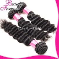 Beauty Forever  Hair 100% Unprocessed Brazilian Virgin Hair Weaves Brazilian Deep Wave ,4Pcs/Lot Cheap Deep Curly Hair Extension
