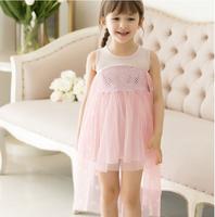 New 2014 Frozen princess dress/Sleeveless blingbling girls dress/Summer Frozen style girl dress