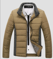 Men's Jacket Winter Overcoat Fashion Candy Colors Warm Padded Jacket  2014 New Arrival Whole Sale MWM497