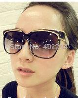 Free shipping European and American big retro sunglasses UV dazzling color fashion trend of female models sunglasses yurt