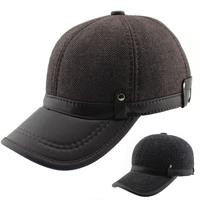 Hot-selling 2014 Fashion Men's Baseball Cap, Sports Cap, Warm Hats For Autumn - Winter Casual Caps Big Size Free Shipping