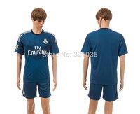 High  Quality   Real  Madrid  Goalkeeper   Blue 2014 -  2015    Soccer Jerseys    Football  Kit  Free Shipping