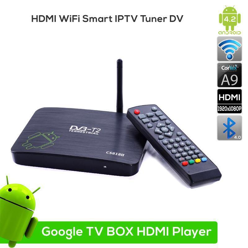 2pcs Low Price Dual Core Android TV BOX CS818II Media Player,1G/8G HDMI WiFi Smart tv box support HD1080P version,DLNA HD DVBT(China (Mainland))