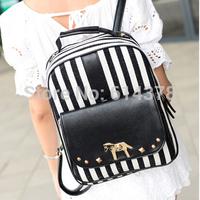 Newest HOT Design Striped Women's Backpacks Fashion All-Match Double Shoulder Women School Bags Shoulder Travel Bags