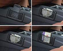 New 2014 Universal Car Seat Side Back Net Storage Bag Phone Holder Pocket Organizer(China (Mainland))