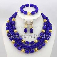 Fantastic Indian Bridal Jewelry Set Nigerian Wedding Beads Costume African Jewelry Set 2014 Full Set  Free Shipping GS607