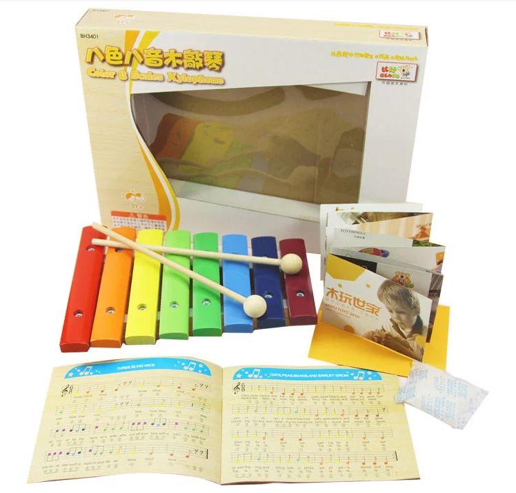benho цвет ксилофон 8 шкал, деревянные