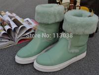 2014 Wholesale and Retal free shipping women winter warm snow boots fox fur warm tassel boots White/Black/Beige Colors