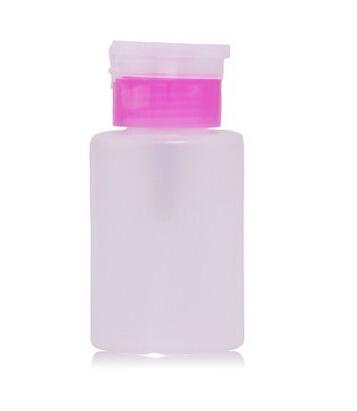 New 2015 150ML Pump Polish Dispenser Empty Bottle Nail Art Remover UV GEL Cleaner(China (Mainland))