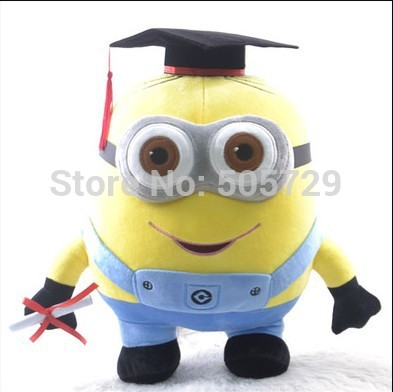 Despicable Me Dr. cap graduation doll plush toy graduation gifts(China (Mainland))
