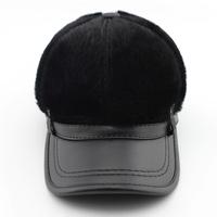 Newest 2014 Fashion Men Sea lion hair Caps Mens Baseball cap Winter warm hat Big Size Free Shipping