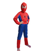Boys Spiderman  Costume tights Kids Halloween and Christmas costumes kids performance clothing Free Shipping