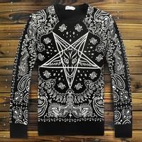High Quality Autumn Winter Women Men hoodies Paisley print KTZ bandana Sweatshirt HIPHOP Sweater Stars pullovers Tobs shirt XL
