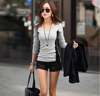 2014 New Autumn and winter Women's Long sleeve T-shirt Joining together Leisure T-shirt 302# free shipping