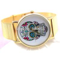 2014 Most Popular Luxurious Brand Golden Stainless Steel Net Band Watch, Quartz Watch,Women  Clock Hours