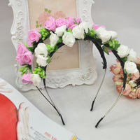 48pcs/lot Wedding Bridal Hair Accessories Beads Headwear With Artificial Flower Women's Party Marriage Hairpin jt107